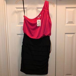 Juniors Pink & Black Dress M NWT